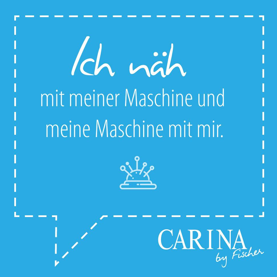 Ich näh mit meiner Maschine und meine Maschine mit mir