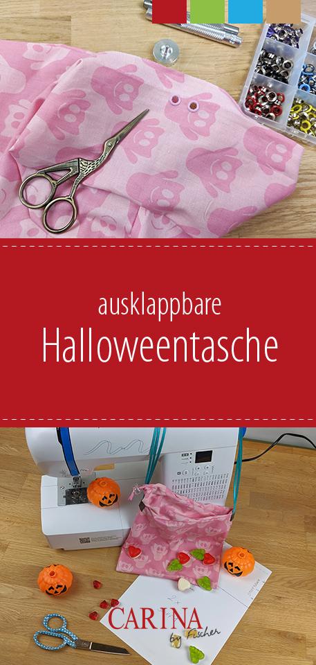 Ausklappbare Halloweentasche